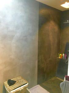béton décoratif douche