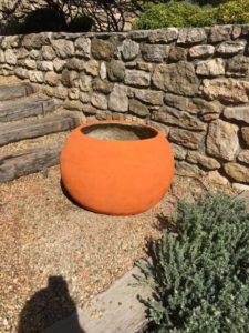 béton décoratif pot