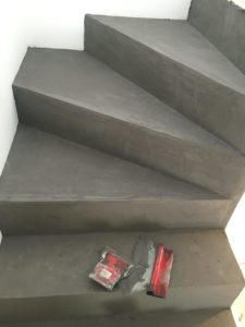 béton décoratif escalier