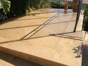 traitement de sol terrasse